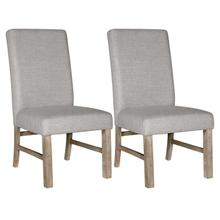 See Details - Jefferson 2-Pack Upholstered Side Chair, Distressed Brown