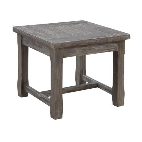 Paladin Square End Table, Weathered Gray T3501-03
