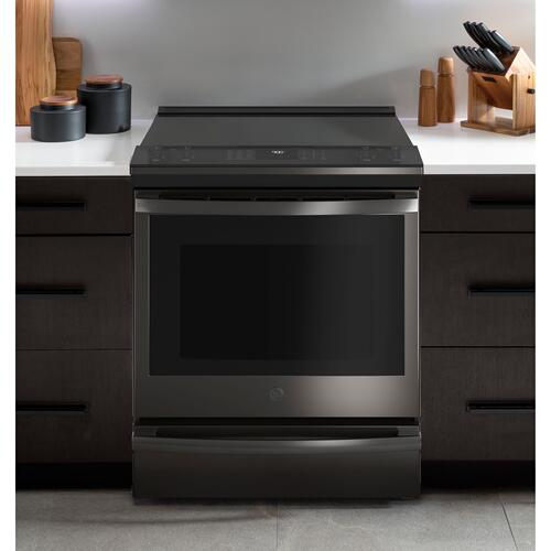 """GE Appliances - GE Profile™ 30"""" Smart Slide-In Front-Control Induction and Convection Range with No Preheat Air Fry"""