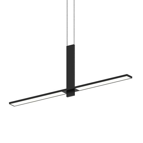 Sonneman - A Way of Light - Planes LED Pendant [Color/Finish=Satin Black, Shape=Intersecting]