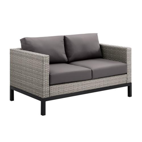 Product Image - Metal Leg Wicker Finish Outdoor Set in Driftwood Gray (Component 2 of 3)