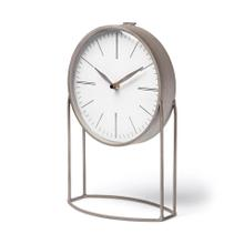 Aurus Matte Gray Metal Table Clock