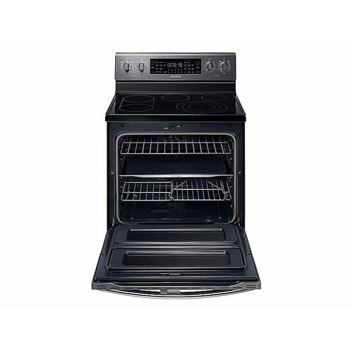 5.9 cu. ft. Freestanding Electric Range with Flex Duo™ & Dual Door in Black Stainless Steel