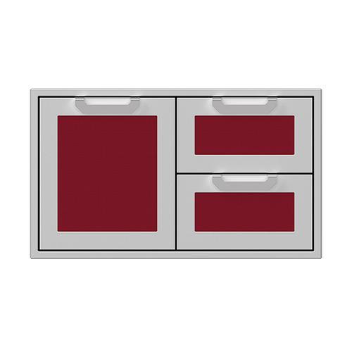 """Hestan - 36"""" Hestan Outdoor Combo Door/Drawer - AGSDR Series - Tin-roof"""
