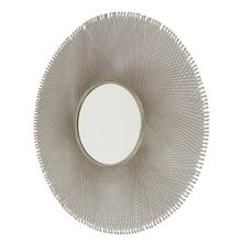 "Metal 45"" Mesh Wall Mirror, Silver Wb"