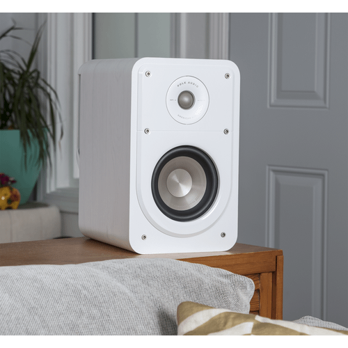Signature Series American HiFi Home Theater Compact Bookshelf Speaker in WHITE