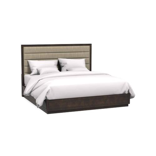 A.R.T. Furniture - Cary Upholstered California King Bed Jute Dark Cherry Polished Nickel