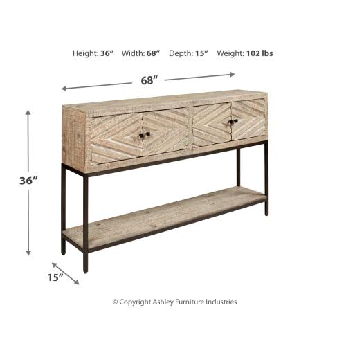 Roanley Sofa/console Table