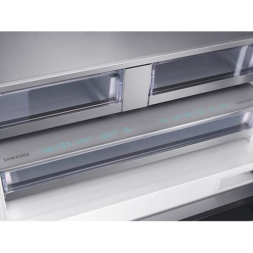 "Samsung - 21 cu ft. Capacity 3-Door French Door Panel Ready 36"" Built-In Chef Collection Refrigerator"