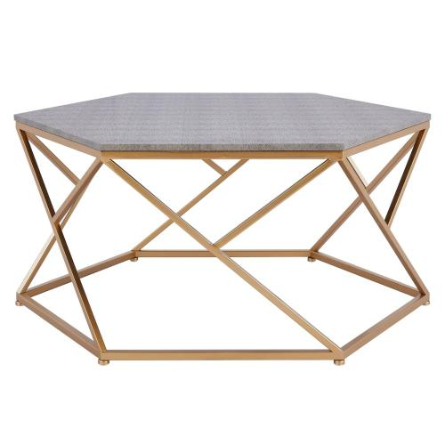Cressa Faux Shagreen Coffee Table, Chronicle Gray
