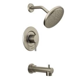 Align brushed nickel moentrol® tub/shower