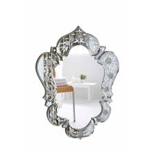 Venetian 20.7 in. Transitional Mirror in Clear