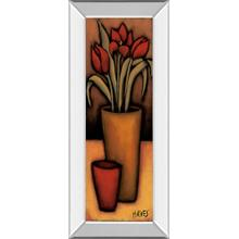 """Tulipas Vermelhas"" By H. Alves Mirror Framed Print Wall Art"
