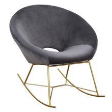 View Product - Nolan Grey Velvet Rocking Chair