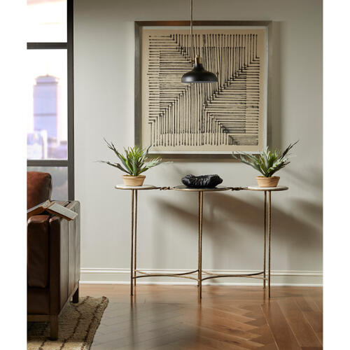 Two Tone Marble Console Table