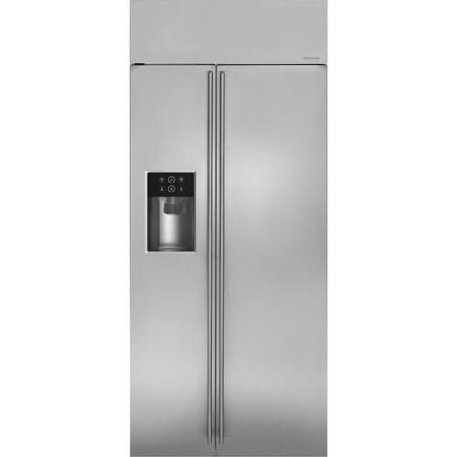 "Monogram - Monogram 36"" Smart Built-In Side-by-Side Refrigerator with Dispenser"