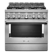 KitchenAid® 36'' Smart Commercial-Style Gas Range with 6 Burners - Stainless Steel Product Image