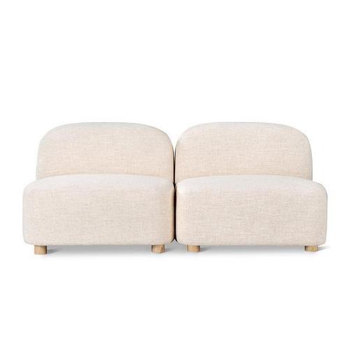 Product Image - Circuit Modular 2-pc Armless Sofa Huron Ivory / Natural Ash