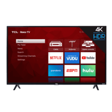 "TCL 43"" Class 4-Series 4K UHD HDR Roku Smart TV - 43S421"