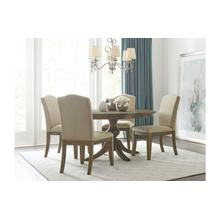 """View Product - 44"""" Round Dining Table With Wood Base"""