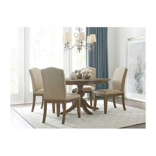 """Gallery - 44"""" Round Dining Table With Wood Base"""