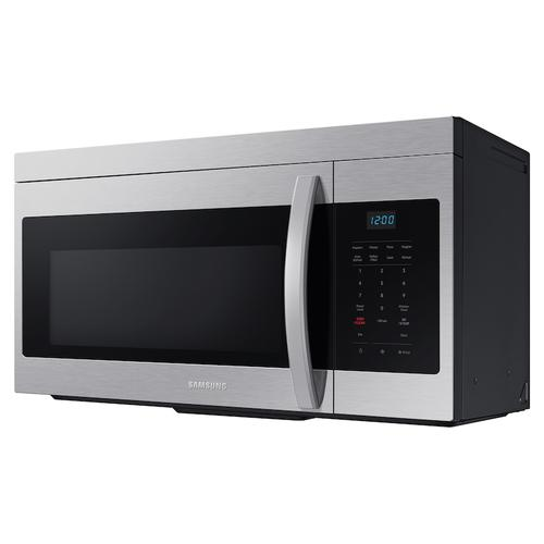 Samsung - 1.6 cu. ft. Over-the-Range Microwave with Auto Cook in Stainless Steel