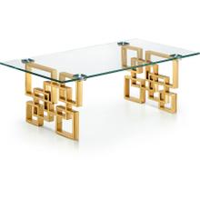 "Pierre Gold Coffee Table - 48"" W x 24"" D x 16"" H"