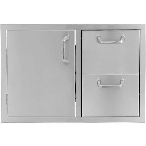 "4-Burner 30"" Single Door/2-Drawer Combo"