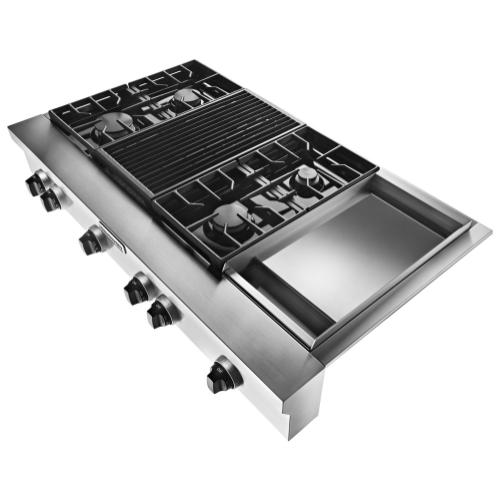 Gallery - 48-Inch 4 Burner Gas Rangetop, Commercial-Style - Stainless Steel