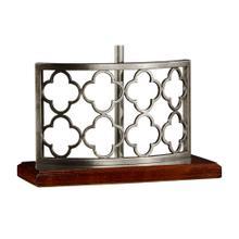 Silvered Gothic Trellis Table Lamp Base