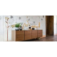 Sideboard with 4 doors and metal base