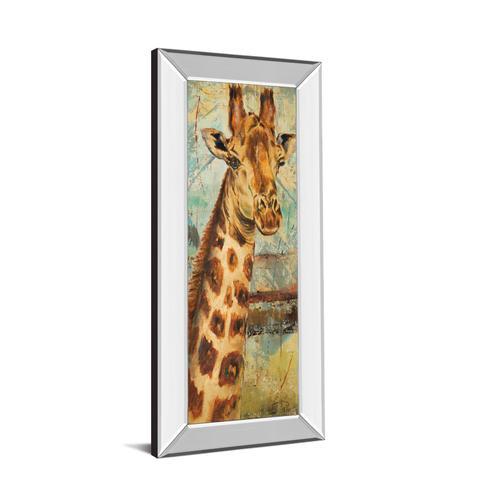 "Classy Art - ""New Safari On Teal I"" By Patricia Pinto Mirror Framed Print Wall Art"