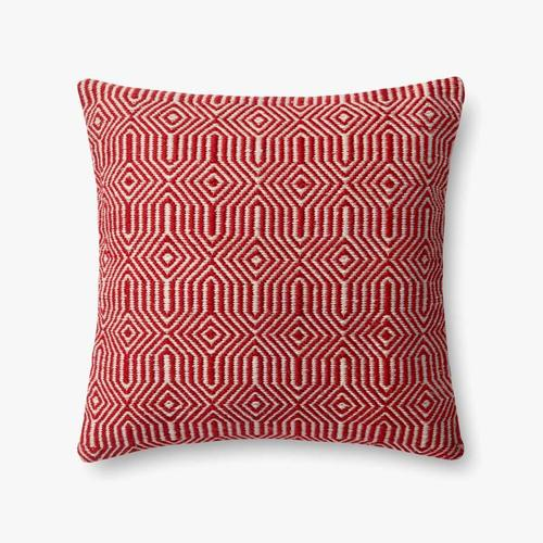 P0339 In/out Red / Ivory Pillow