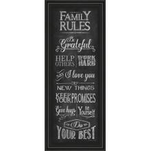"""Family Rules"" By Susan Ball Framed Print Wall Art"