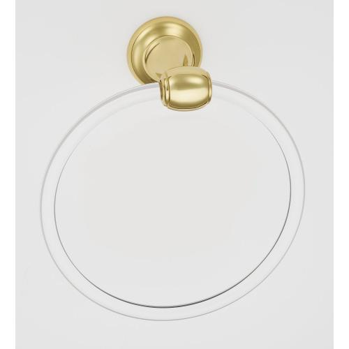 Acrylic Royale Towel Ring A7340 - Polished Brass