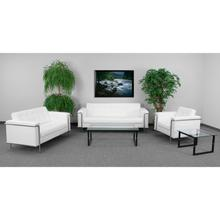 See Details - HERCULES Lesley Series Reception Set in Melrose White LeatherSoft