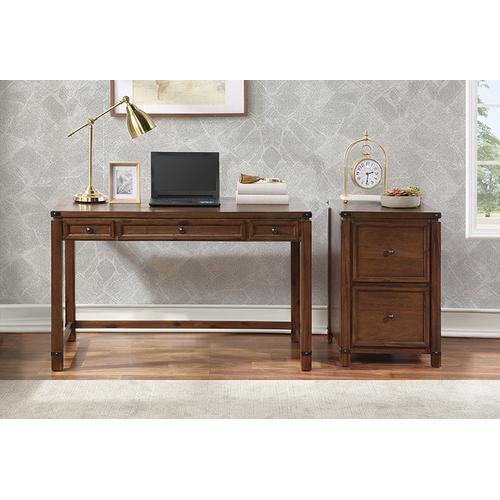 Baton Rouge Home Office Writing Desk In Brushed Walnut Finish