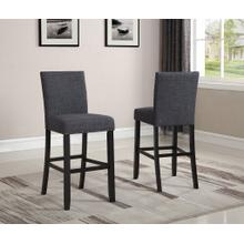 See Details - Biony Gray Fabric Bar Stools with Nailhead Trim, Set of 2