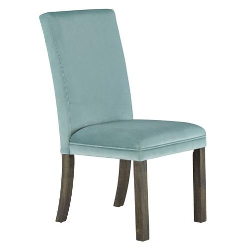 Standard Furniture - Trenton 2-Pack Upholstered Side Chairs, Teal