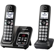 Link2Cell® Bluetooth® Cordless Phone with Answering Machine and Voice Assist, 2 Handsets