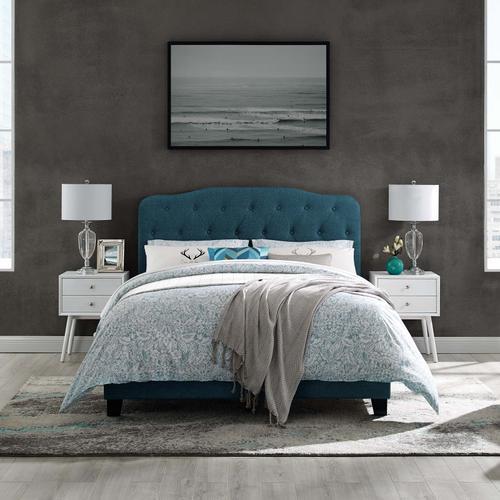 Modway - Amelia Queen Upholstered Fabric Bed in Azure