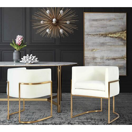 Product Image - Giselle Cream Velvet Dining Chair - Gold Frame by Inspire Me! Home Decor