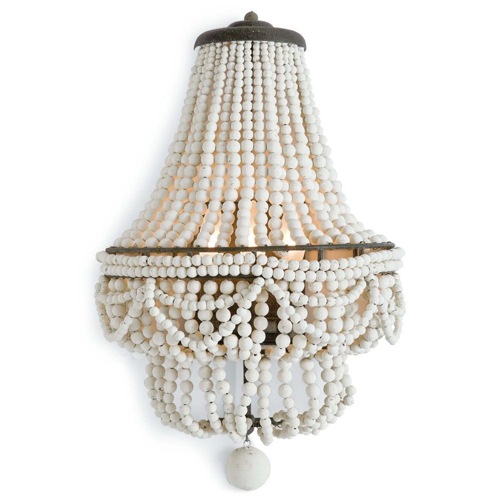 See Details - Malibu Sconce (weathered White)