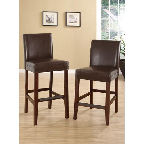Bar Chair, Brown Faux Leather