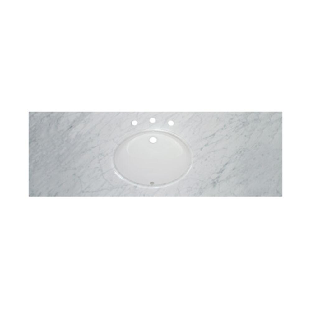 "61"" White Carrera (WC) - Single Bowl Marble Top"