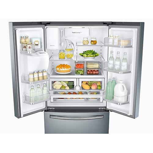 Gallery - 26 cu. ft. 3-Door French Door Refrigerator with CoolSelect Pantry™ in Stainless Steel