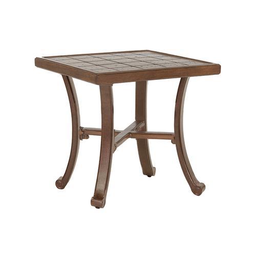 "Castelle - 22"" Vintage Square Side Table"