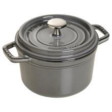 Staub Cast Iron 1.25-qt Round Cocotte - Graphite Grey