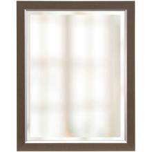 FRAMED BEVELED MIRROR  22in w X 28in ht  Made in USA