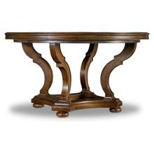 Archivist 54in Round Dining Table w/1-18in Leaf
